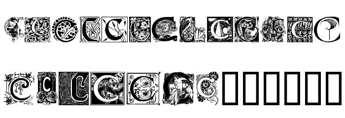 Art Nouveau Initials C Font.