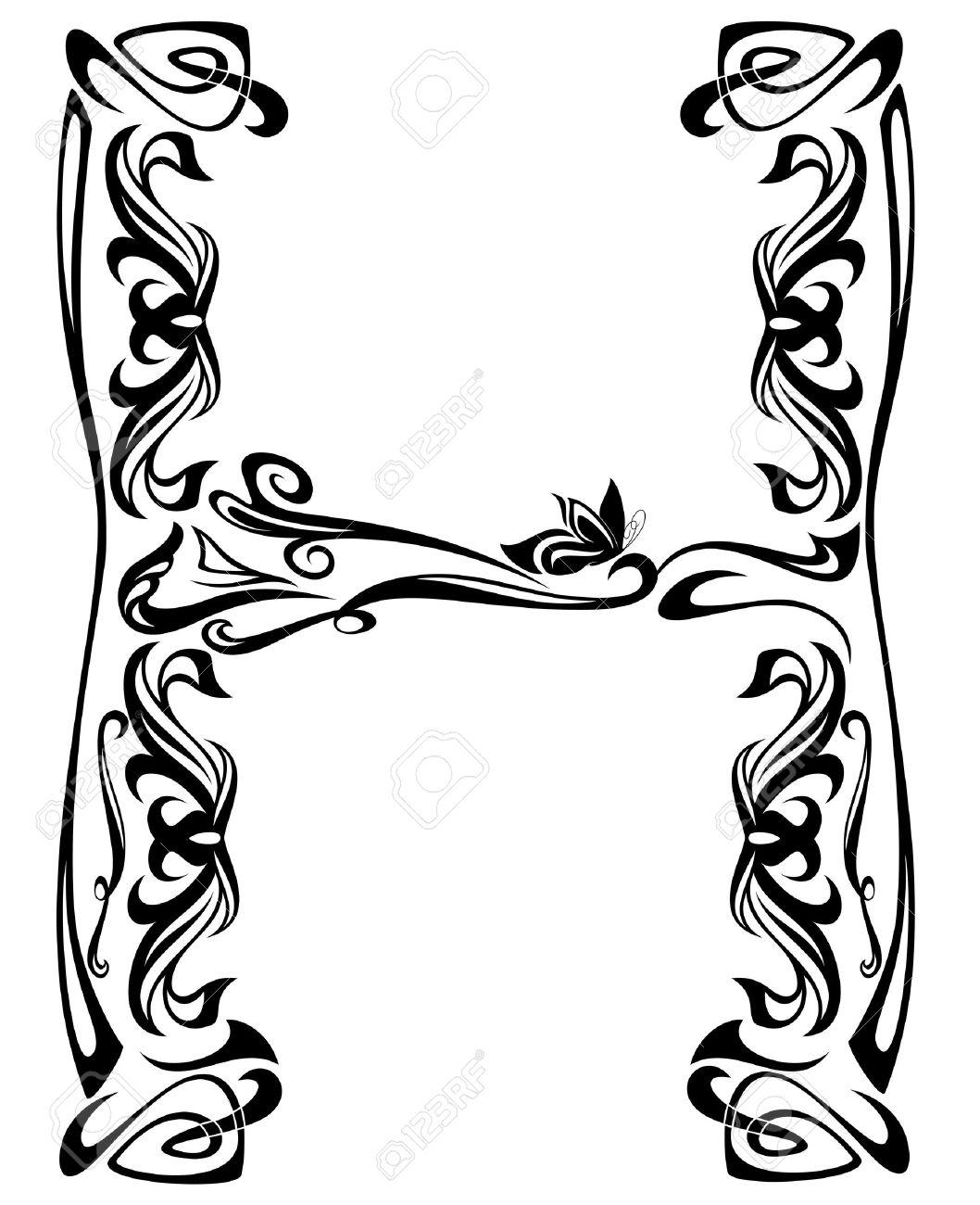 Art Nouveau Style Vintage Font.