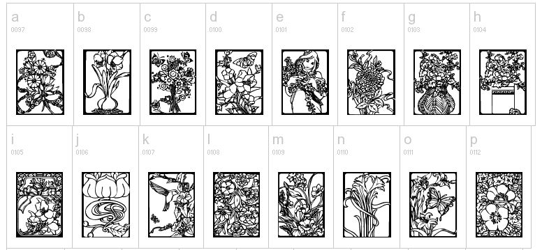 Art Flowers Drawings Cliparts.