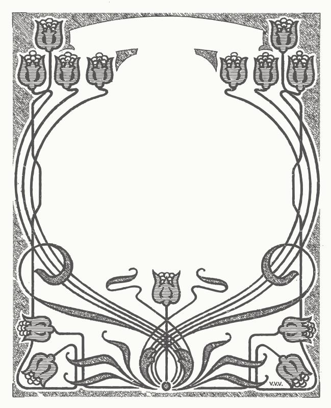Free Clipart: Art Nouveau Flower Frame.