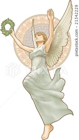Goddess of Victory Art Nouveau style.