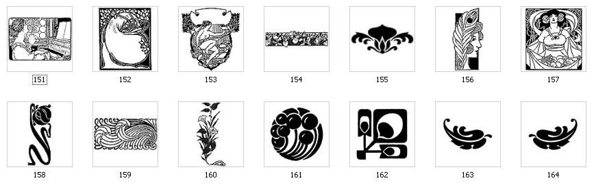 Art Nouveau Motifs and Images.