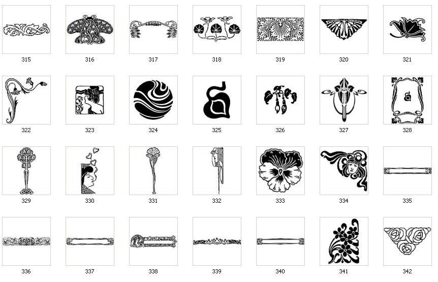 Art Nouveau Designs and Images Page 3.
