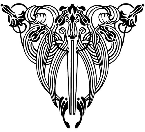 Art Nouveau Floral Designs 4 by neefer, via Flickr.