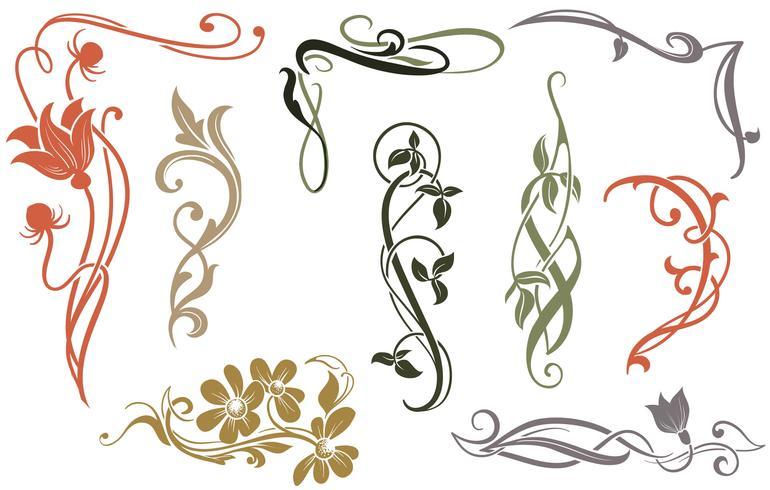 Art Nouveau Vectors.