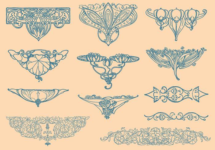 Art Nouveau Vector Elements.