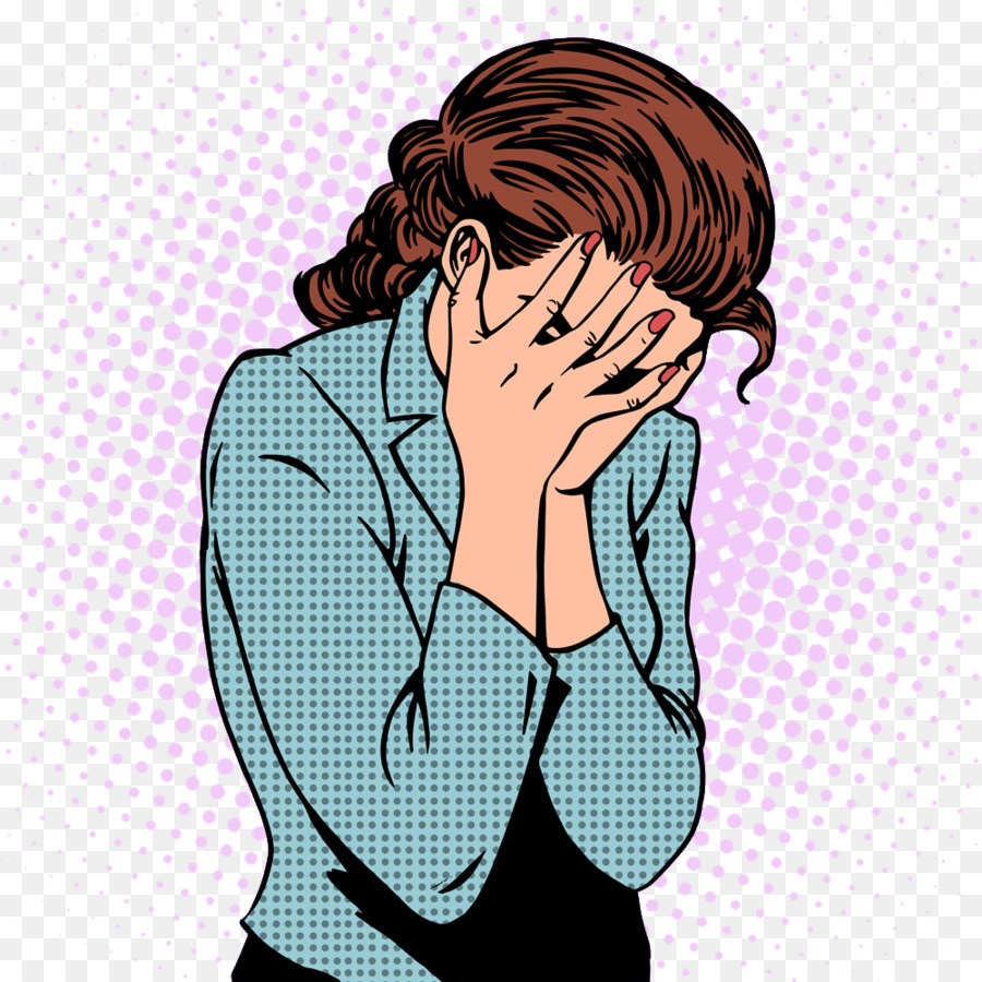 Silhouette Woman Crying Clip art.