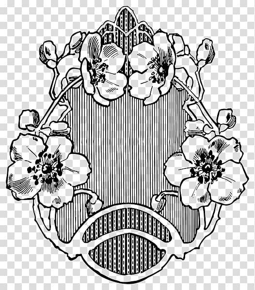 Art Nouveau Drawing Line art , design transparent background.