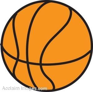 Clip Art of a Basketball.