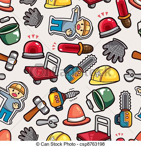 Vector of construction object seamless pattern csp8763198.