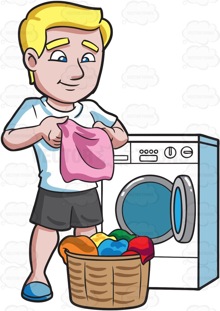 Folding laundry clip art.
