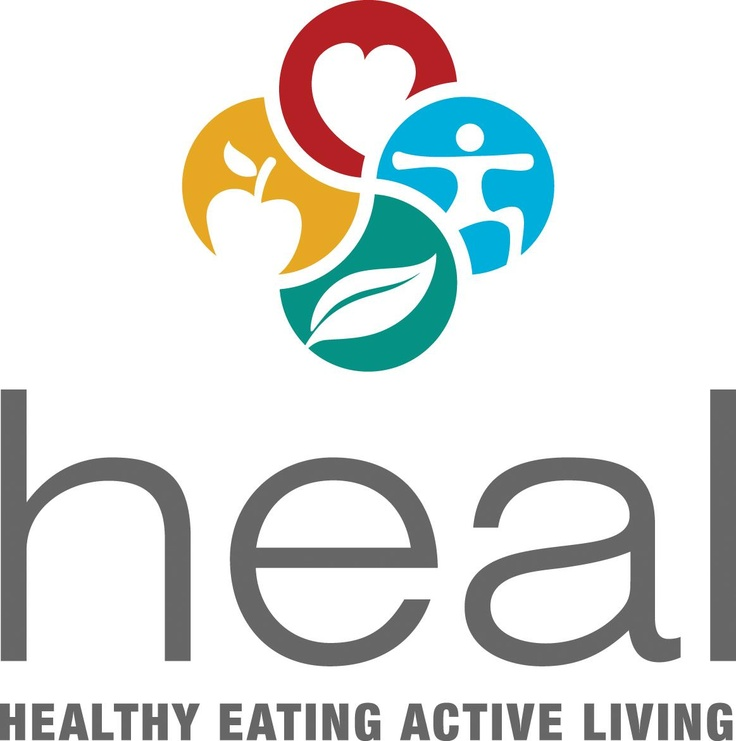 Heal Healthy Eating Active Living Logo.