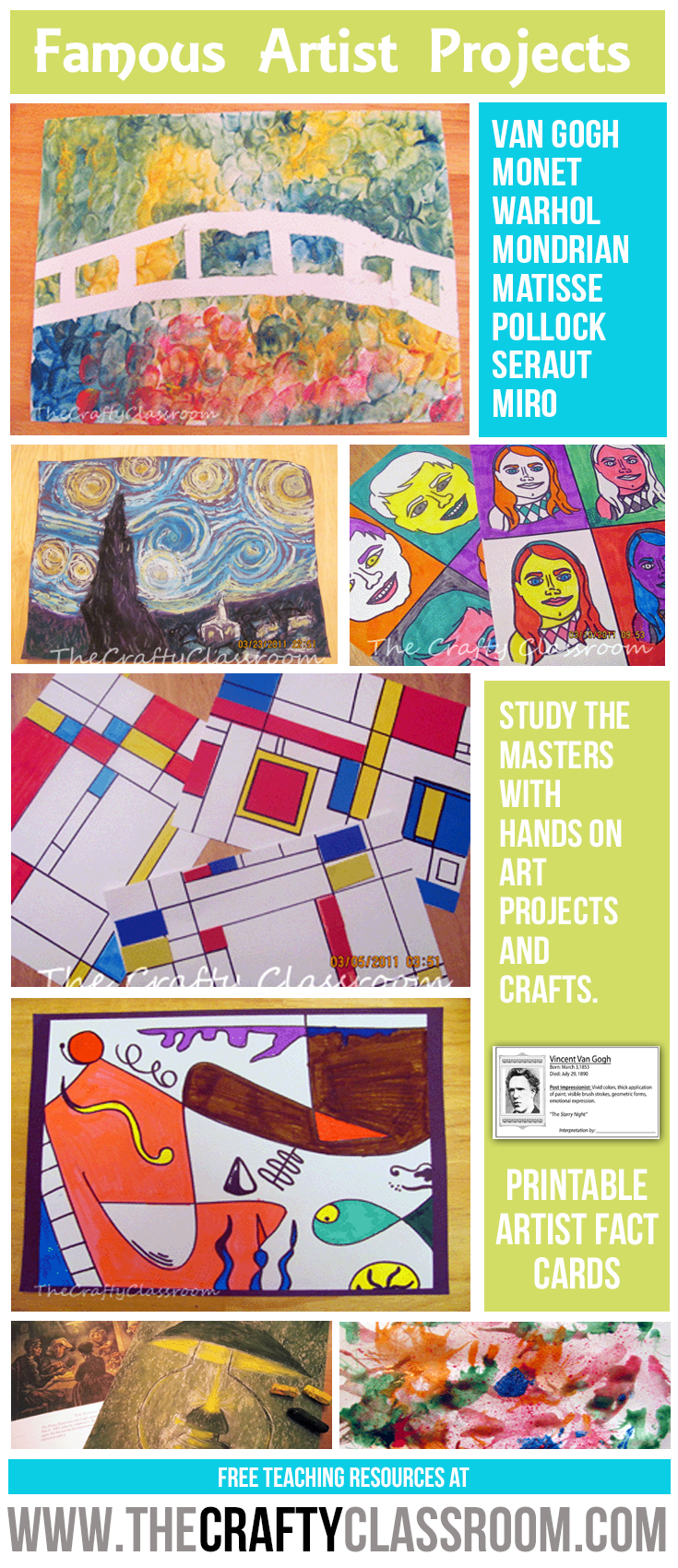 Famous Artist Projects for Kids:.