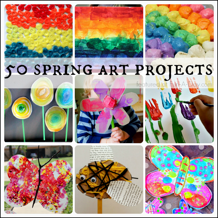 50 Beautiful Spring Art Projects for Kids.