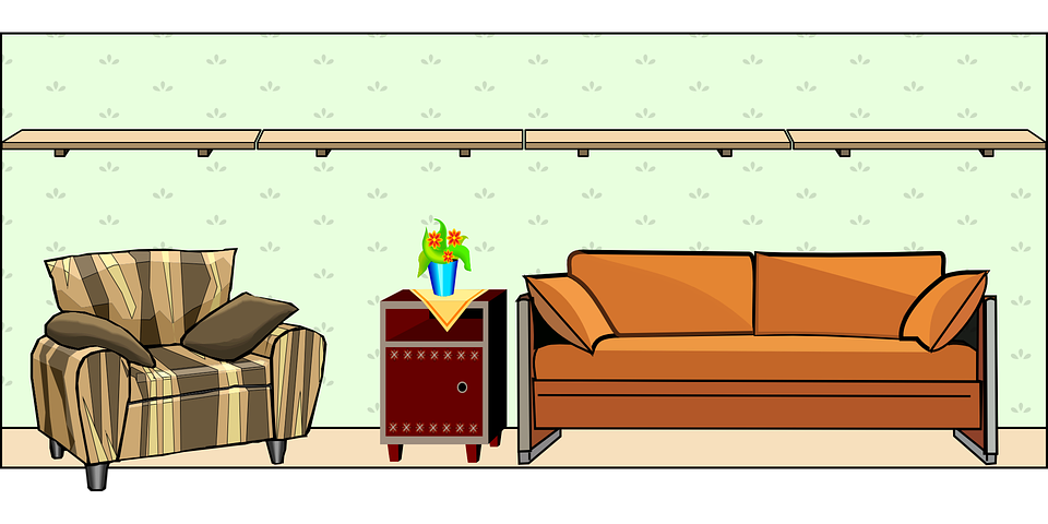 Free vector graphic: House, Wall, Table, Room, Chair.