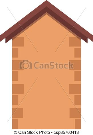 Vector Clip Art of House or real estate silhouettes with brown.