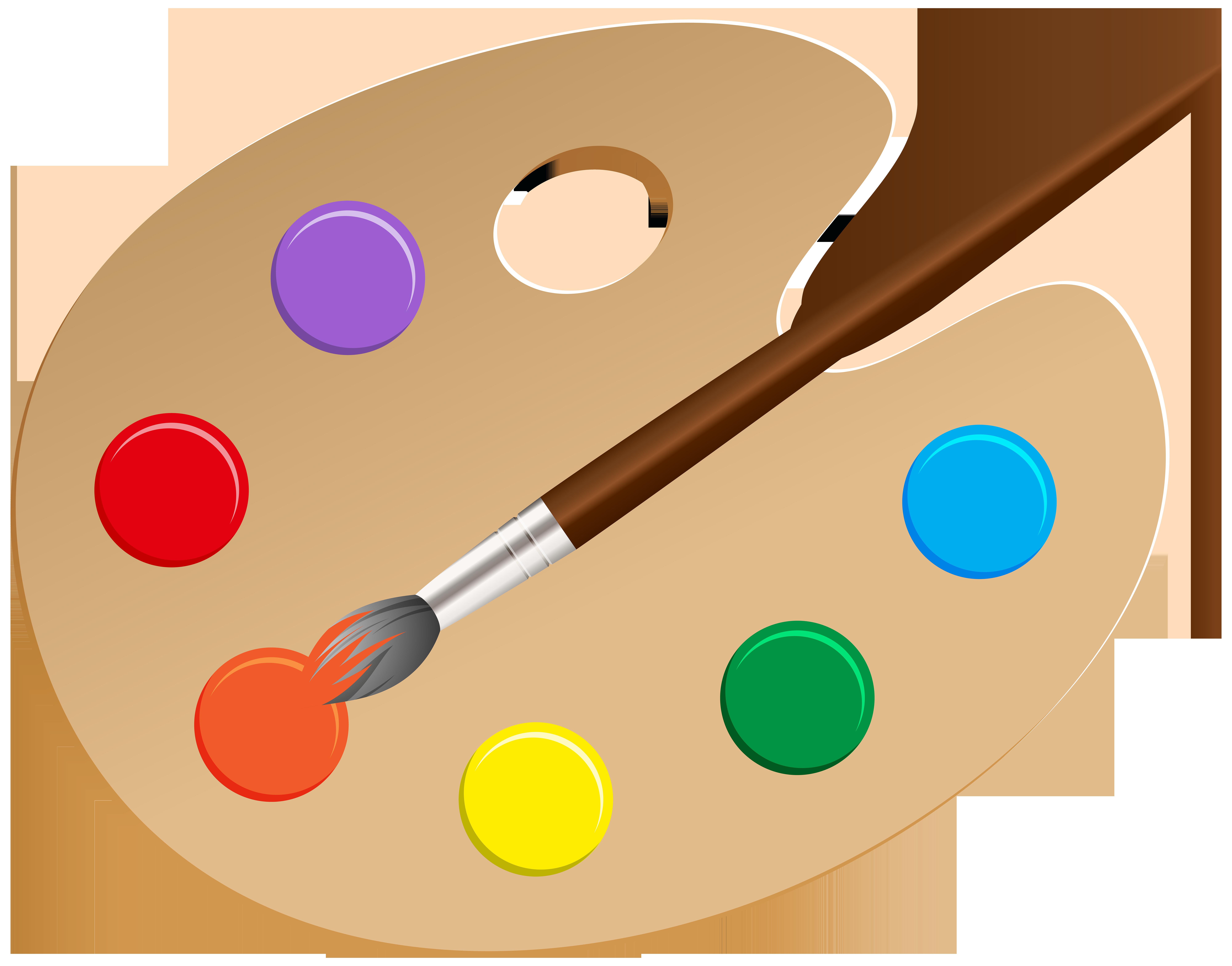 Artist Palette PNG Clip Art.