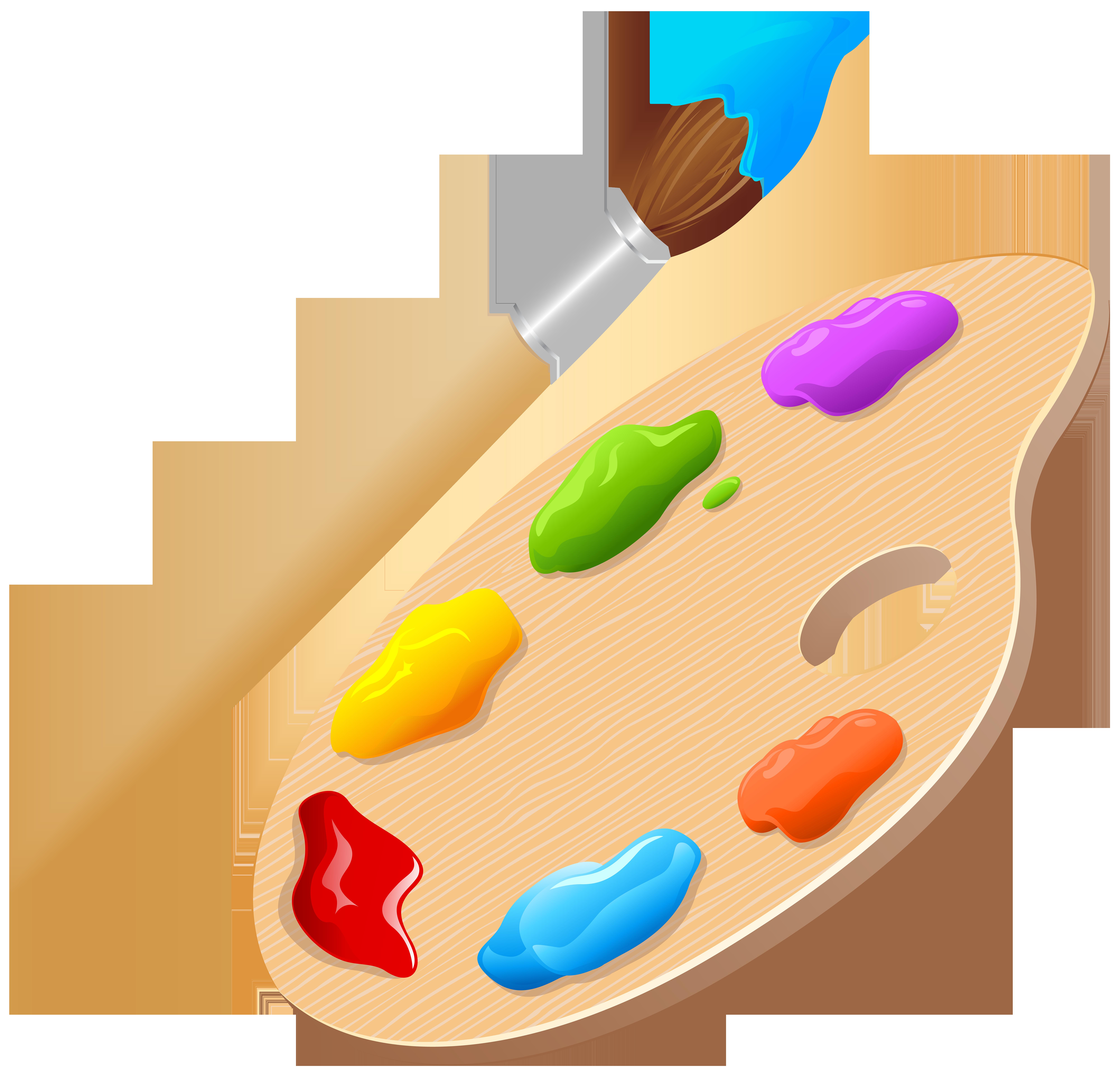 Artist Palette PNG Clip Art Image.