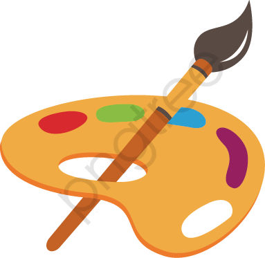 Vector Painted Palette, Vector, Hand Painted, Palette PNG and Vector.