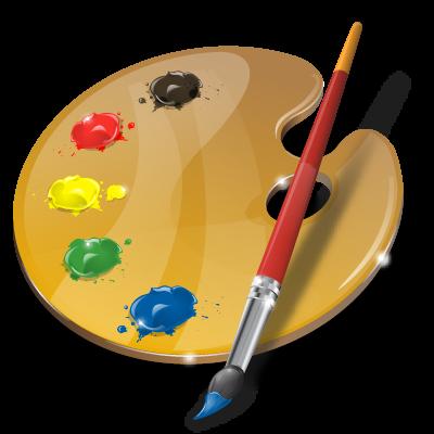 Art, palette, web design icon.