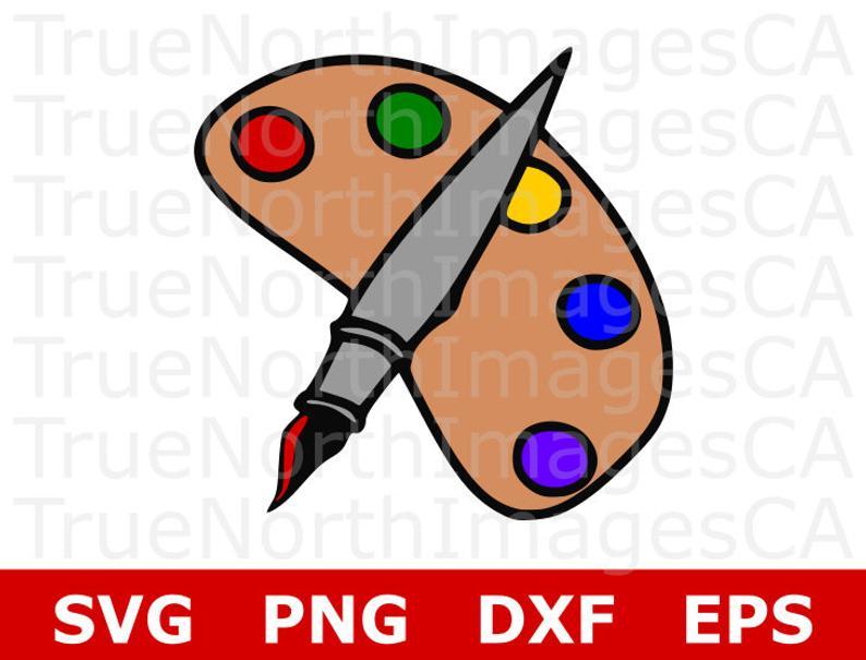 Paint Pallet SVG / Paint Brush Clipart / Paint Pallet Clipart / Paint SVG  Files / Artist SVG / Paint Brush Svg / Svg Files for Cricut.