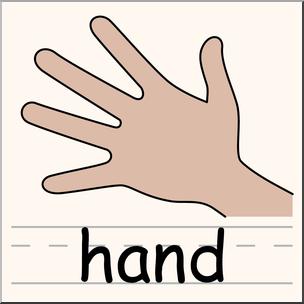 Clip Art: Parts of the Body: Hand Color I abcteach.com.
