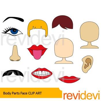 Body Parts clip art.