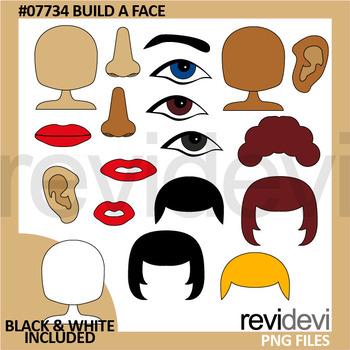Build A Face clip art.