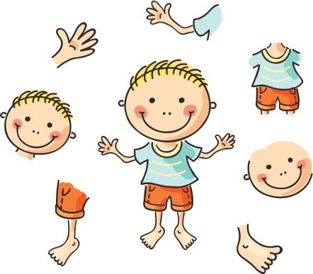 Pictures Of Body Parts Clipart.