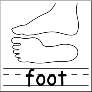 Clip Art: Parts of the Body: Foot B&W I abcteach.com.