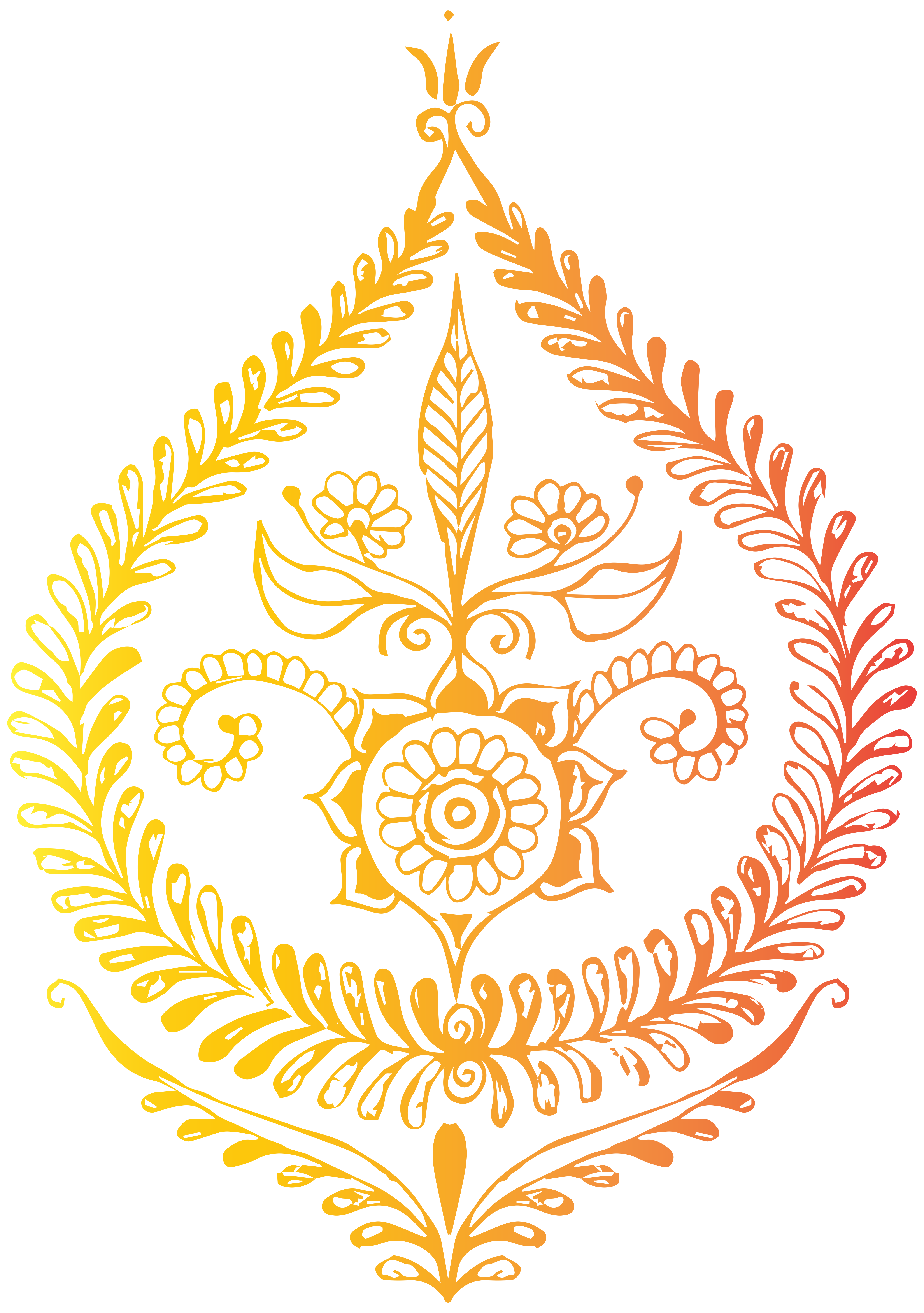 India Decoration Free PNG Clip Art Image.