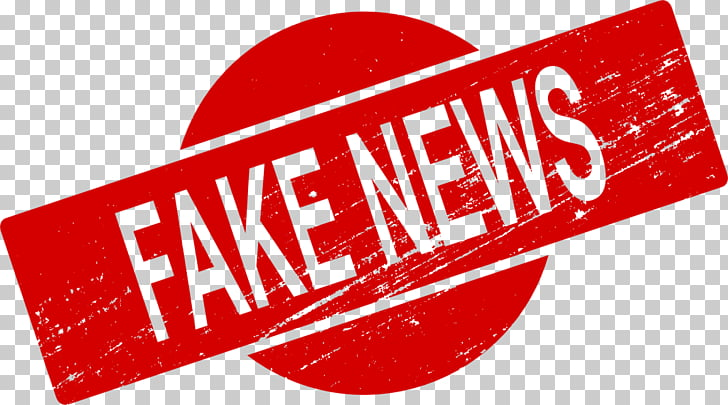 Fake news, newspaper, red fake news signage art PNG clipart.