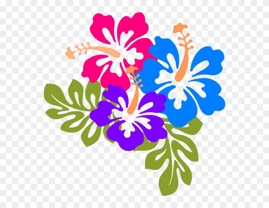 Hawaiian Flowers Clip Art.