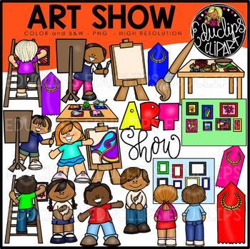 Art Show Clip Art Bundle {Educlips Clipart}.