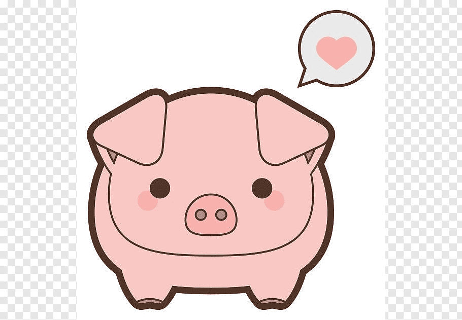 Pink pig illustration, Miniature pig Cuteness Desktop.