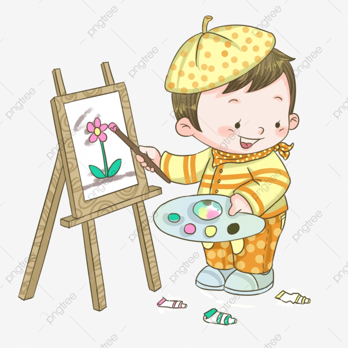 Hand Painted Drawing Art Art Student, Drawing Children, Child.