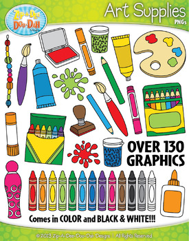 Art Supplies Clipart {Zip.