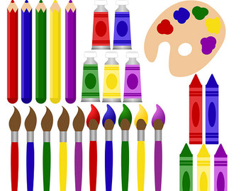 Art supplies clip art,.