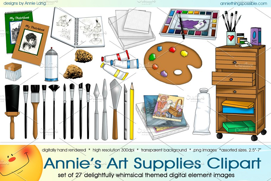 Annie's Art Supplies Clipart.
