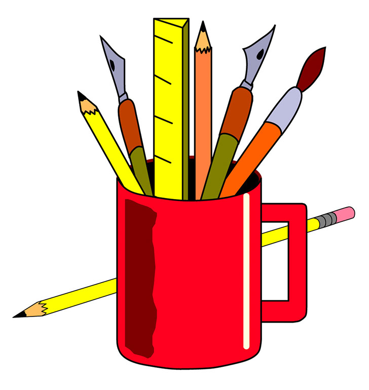 School art supplies clipart the cliparts.