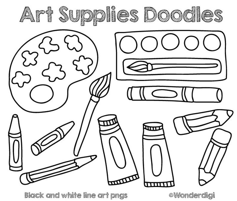 Art Supplies Clip art Doodles.