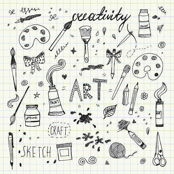 Best Craft Supplies Illustrations, Royalty.