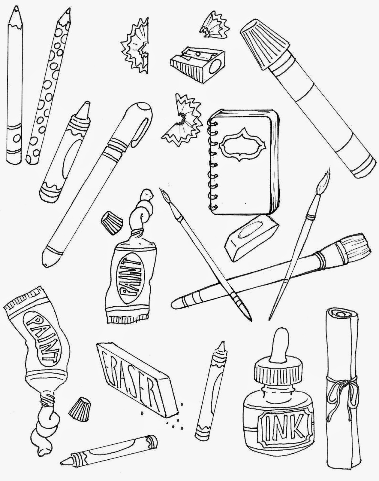 Art Supplies Clipart Black And White (96+ images in Collection) Page 2.