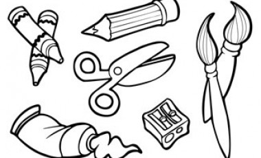 Black And White Clipart Of Art Supplies & Free Clip Art Images.