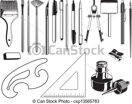 Art Supplies Graphic Elements.