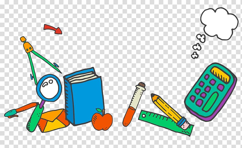 School supplies illustration, School supplies Learning.