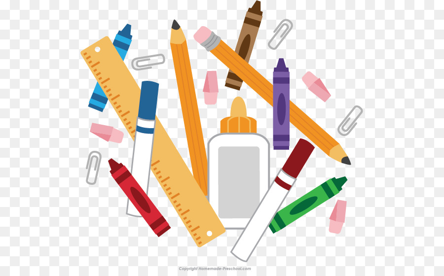 School Supplies Cartoon png download.