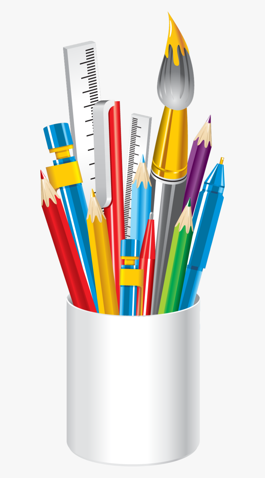 Pencils Clipart School Supply.
