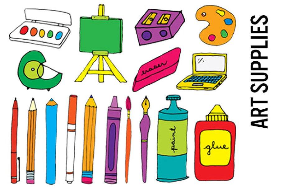 Art Supplies Clip Art.