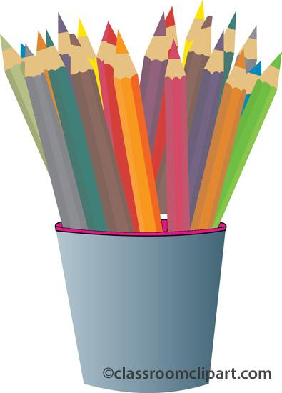 Art Supplies Colored Pencils.